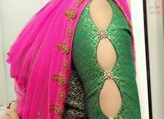 Flattering Saree Blouse Sleeve Designs Of This Year Striking saree golden blouses Discover more about - For all kind of sarees. 15 New sleeve designs to try with kurtis and blouse - Kurti Blouse Stylish Blouse Design, Blouse Back Neck Designs, Fancy Blouse Designs, Saree Blouse Designs, Indian Blouse Designs, Saree Blouse Patterns, Skirt Patterns, Sari Blouse, Coat Patterns