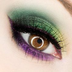 Mardi Gras eye make up
