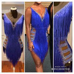 Ballroom Costumes, Jazz Costumes, Dance Fashion, Look Fashion, Latin Ballroom Dresses, Fringe Dress, Dance Outfits, Dance Wear, Dress Collection