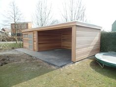 overviews - Garden house with flat roof x with awning x - Metal Barn Homes, Metal Building Homes, Pole Barn Homes, Carport Patio, Patio Gazebo, Pergola, Converted Shed, Eco Cabin, Caravan Home