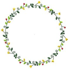 Free Machine Embroidery Wreath Design by Julie Hall Designs