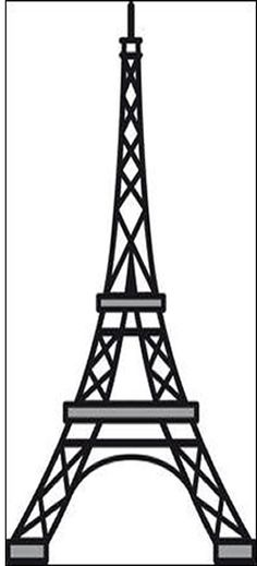 eiffel tower template | Eiffel Tower Embossing Template Pictures