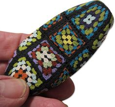 """""""Granny Square"""" polymer clay bead....."""