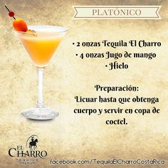 Platónico, con Tequila El Charro! #Tequila #TequilaElCharro #Coctel #Cocktail #Platonico Cocktail Shots, Cocktail Desserts, Cocktail Glass, Cocktail Recipes, Fruit Drinks, Bar Drinks, Wine Drinks, Alcoholic Drinks, Mixed Drinks Alcohol