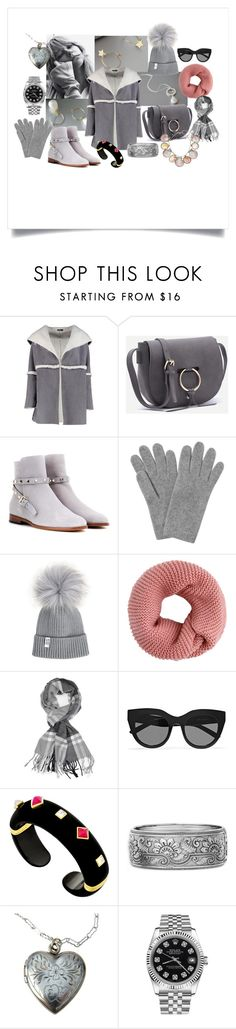 """Look Fab in 2017"" by crystalglowdesign ❤ liked on Polyvore featuring Boohoo, Valentino, L.K.Bennett, Achillea, Le Specs, Rolex and Paolo Costagli"