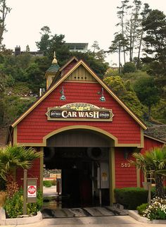 Old Cambria Car Wash, the cutest car wash ever!, Cambria, San Luis Obispo, California by Wonderlane Cambria California, Places In California, California Dreamin', Northern California, California History, Car Wash Business, San Luis Obispo County, Cute Cars, Its A Wonderful Life