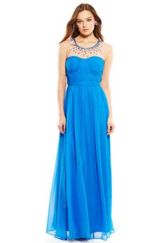 DECODE 1.8 Illusion Top Gown with Jewels