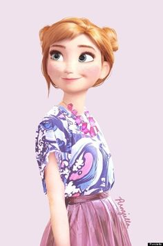 Modern-Day Disney and Dreamworks Characters Are Icons of Style Disney Magic, Disney Frozen, Disney Art, Disney Movies, Anna Frozen, Real Frozen, Disney High, Disney E Dreamworks, Disney Pixar
