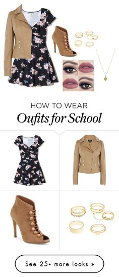 """First Day of School"" by liam-dunbar-14 on Polyvore featuring Hollister Co., Gianvito Rossi, Charlotte Russe and Bianca Pratt"