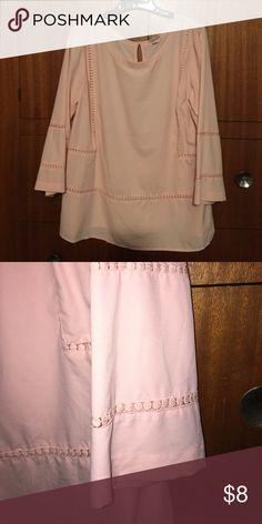 Silky blouse Silky feel, cut out details. Hits below waist. Merona Tops Blouses