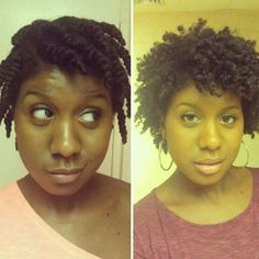 keep practicing! -----> Twist-out:  Set your hair in the direction you want your curls to go.