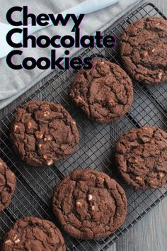 The Best Double Chocolate Cookies - My Table of Three My Table of Three Roll Cookies, Cookie Bars, Cookie Dough, Chewy Chocolate Cookies, Chocolate Cookie Recipes, Refrigerator Cookies, Cookies From Scratch, Easy No Bake Desserts, Delicious Cookies
