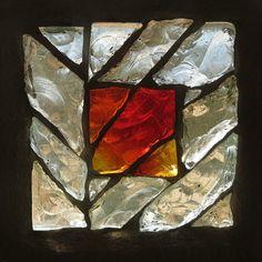 """Dalle de verre série """"Mini-éclats"""" #clotildegontel #dalledeverre Leaded Glass Windows, Stained Glass Panels, Stained Glass Art, Tile Art, Mosaic Art, Mosaic Glass, Glass Art Design, Verre Design, Faceted Glass"""