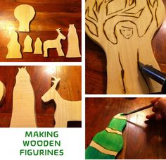 Making the wooden figurines for a Winter Waldorf Nature Table