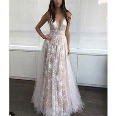 Sexy Lace prom dresses, V neck prom dress, 2017 prom dress, prom dress online, Long prom dress, formal prom dress, 16072