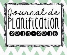 Journal de planification Bulletins, Teacher Planner, Classroom Management, Teaching, Math, Organiser, Immense, French, School Stuff