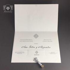 Invitation de boda estilo clásico Para Ana Sofía Fuentes y Alejandro Baeza.  #InvitacionesdeBoda