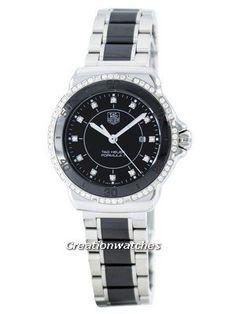 b70f8860966 Tag Heuer Formula 1 Quartz Diamond Accent Swiss Made 200M WAH1312.BA0867  Women s Watch Tag