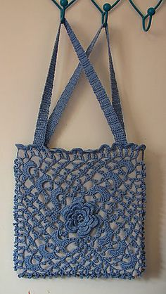 Ravelry: Irish Crochet Opera Bag pattern by Bernhard Ulmann / Bear Brand / Botany / Bucilla / Fleisher