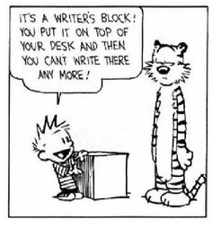 Writing Prompt:  Write about the things that are getting in the way of your writing.