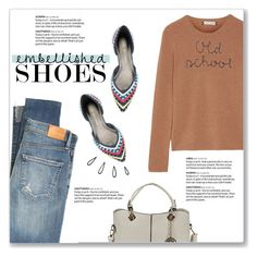 """Magic Slippers: Embellished Shoes"" by kellylynne68 ❤ liked on Polyvore featuring Citizens of Humanity, Stuart Weitzman, Lingua Franca, Old Navy and embellishedshoes"