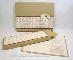 Writer's Desk Stationery Set by ltecler - Cards and Paper Crafts at Splitcoaststampers