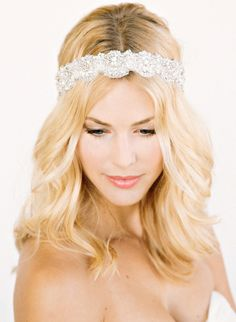 Take a look at these bridal styles with gorgeous hair accessories.