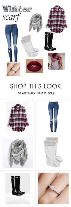 """""""winter scarfs"""" by elizabeth-grace-15 on Polyvore featuring Madewell, WithChic, Everest, Hunter and Arabel Lebrusan"""