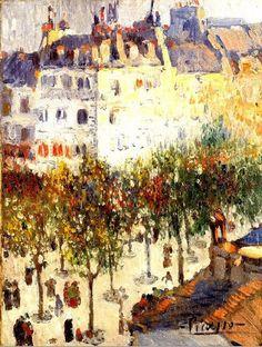 Pablo Picasso. Boulevard de Clichy. 1901. Oil on canvas. 24 1/4 x 18 1/4.