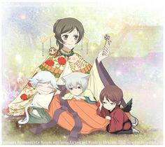 Tags: Little Boy, Kamisama Hajimemashita, Nanami Momozono, Tomoe (Kamisama Hajimemashita), Kurama (Kamisama Hajimemashita), Mizuki (Kamisama Hajimemashita)