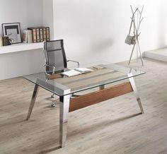 Escritorio moderno / de acero inoxidable / de cristal / de madera NORDIC Altinox