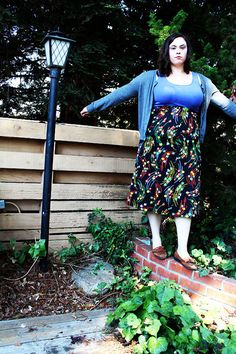 Plus Size  Vintage 1970's Floral Skirt Size 16 by TheCurvyElle, $25.00