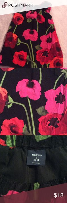 Girls Gap cord dress Yes adorable girls light cord dress has pockets and a poppy flower design great condition GAP Dresses Casual