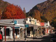 Arrowtown, New Zealand. Quaint and pretty little hobbit town :)