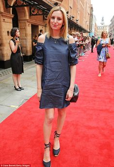 Flair for fashion: Laura Carmichael, 30, showcased her impeccable flair for fashion as she attended the press preview of Harry Potter & The Cursed Child at The Palace Theatre on Saturday