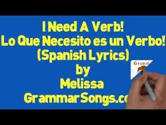 Action Verb Spanish Lyrics Song by Melissa (ESL Learn English) #EnglishGrammarSongs