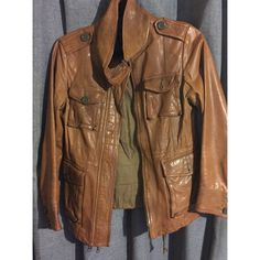 GAP Leather Safari Jacket 8 of 10 Condition.  Authentic Guaranteed.  Fast Shipping. ❤️Thanks for visiting my closet Beauties❤️ GAP Jackets & Coats Utility Jackets