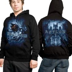 Disturbed - Blue Fade Hoody Mens Hoodie In Black $49.95
