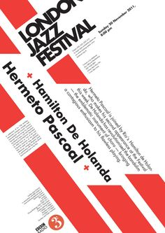 London Jazz Festival Posters by Olga Gnedaya, via Behance. To hang in my classroom one day.