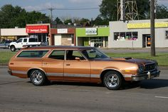 We had one of these tanks - a Ford Gran Torino Wagon. Nothing could stop this baby.