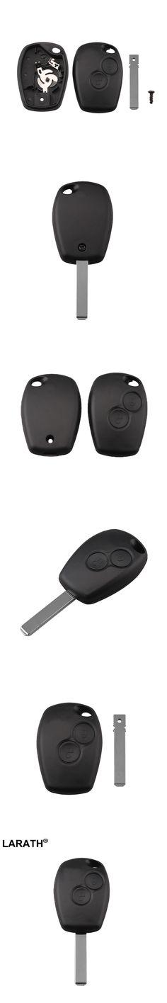 LARATH Key Shell Car Fob Remote Shell Case 2 Button With Uncut Blade For Renault Duster Modus Clio 3 Twingo DACIA Logan Sander