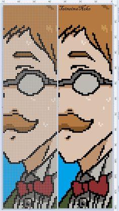 Foto Anime Pixel Art, Art Anime, Beaded Cross Stitch, Cross Stitch Patterns, Modele Pixel Art, Pixel Art Grid, Pixel Beads, Pixel Art Templates, Pixel Pattern