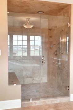 #sublimehomes #customshower #polishednickel #dreamitbuilditloveit #glambath #fleurdelis