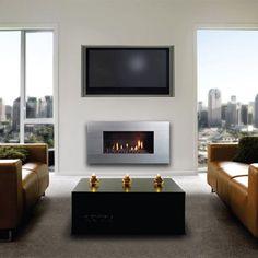 Escea Ferro Stainless Steel Gas Fireplace - FIRL030