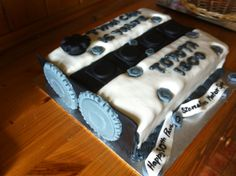 IPad Cake With A Ford Festiva On Top Of Course Cakes Ive Made - Car engine birthday cake
