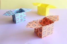 三方の折り紙
