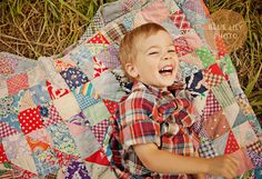 make a cute quilt like this.  boy not included (via @marta dansie)