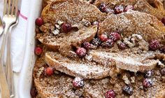 This Cranberry Cream Cheese Baked French toast is perfect for the holidays. It's packed full of cranberries, spiced with cinnamon and nutmeg, and stuffed with a cream cheese filling. Prepare it the night before for an easy yet very impressive breakfast or brunch the next day. Print RecipeCranberry Cream CheeseGet the Recipe