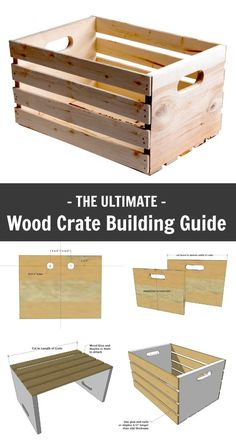 Ana White | Wood Crate Building Guide - DIY Projects Woodworking Furniture, Diy Wood Furniture Projects, Free Woodworking Plans, Wood Crate Furniture, Ana White Furniture, Diy Furniture Plans, Woodworking Skills, Teds Woodworking, Intarsia Woodworking