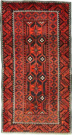 5' 2 x 9' 9 Rust Red Shiraz Persian Rugs